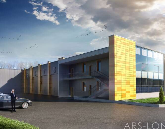 OFFICE-WAREHOUSE COMPLEX WITH SERVICE STATION FOR AGRICULTURAL MACHINERY